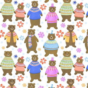 Fair Isle Fashion Bears