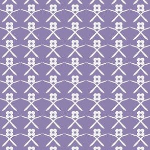 Posie Crossing: Violet Purple Geometric Floral