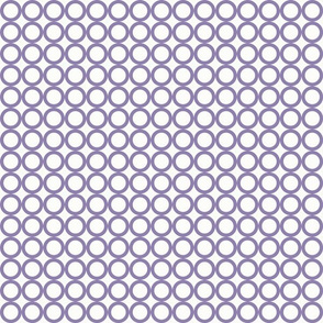 Round N Round: Violet Purple Circle Grid