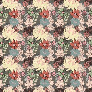 Cactus Flowers greyish Brown 150