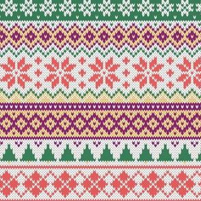 Fair Isle knitting texture