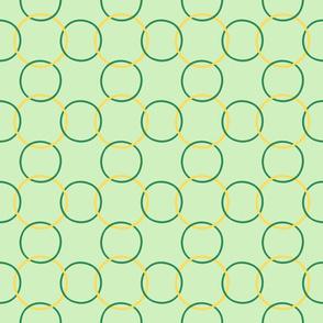 Celtic Rings block - Greens Gold clean