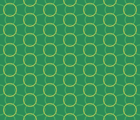 Celtic Rings block - Greens Gold reversed clean fabric by scarlettrose on Spoonflower - custom fabric