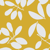 Foliage floral gold and white