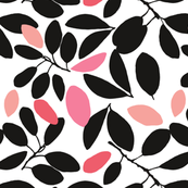 Foliage floral whire