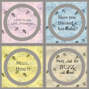 Mason Jar Toppers: Save the Bees Edition