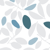 Foliage floral cool grey