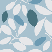 Foliage floral ice blue