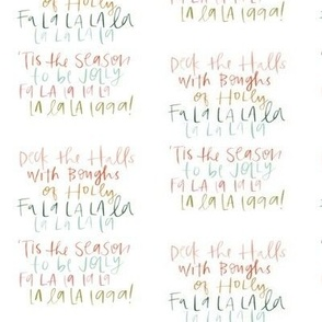 Deck the Halls Hand Lettering