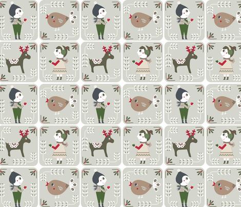 winter mosaic benedicte barrett fabric by b_barrett on Spoonflower - custom fabric