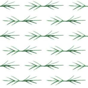 green TWIG SPIKES stripe