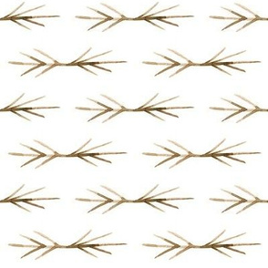Sepia Toned TWIG SPIKES stripe