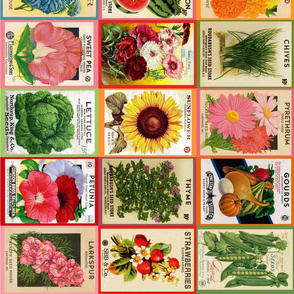Vintage Seed Packets sideways