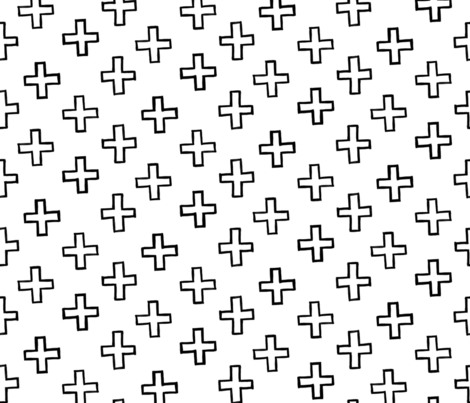 Criss Cross (Black and White) fabric by michelleaitchison on Spoonflower - custom fabric