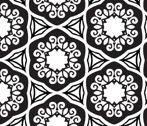 Black and white weave fabric by motionsense on Spoonflower - custom fabric