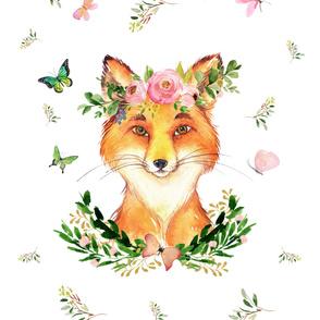 "54""x72"" woodland fox in spring"