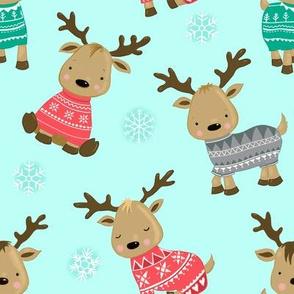 Reindeer FairIsle Pattern