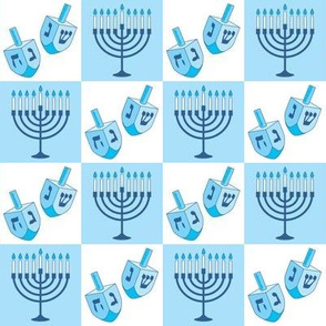 menorahs and-dreidels-in-squares