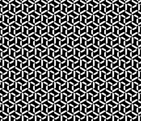 Geometric Black and White fabric by lennycast on Spoonflower - custom fabric