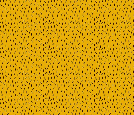 Black Sprinkles on Mustard fabric by marilynpatrizio on Spoonflower - custom fabric