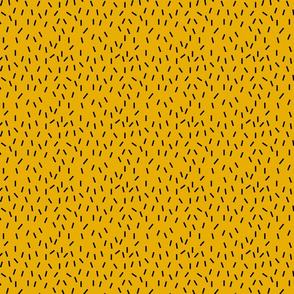 Black Sprinkles on Mustard