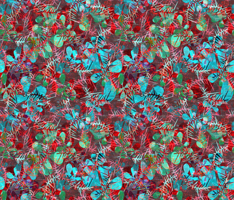 plant combination red & green fabric by variable on Spoonflower - custom fabric