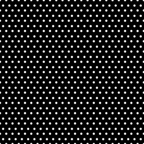 "8"" White Polka Dots Black Back fabric by shopcabin on Spoonflower - custom fabric"