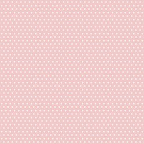 "4"" White Polka Dots Pink Back"