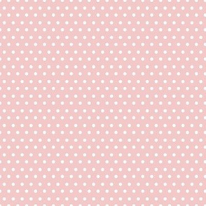 "8"" White Polka Dots Pink Back"