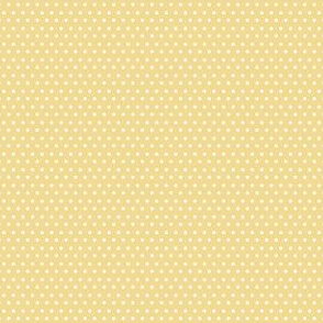 "4"" White Polka Dots Yellow Back"