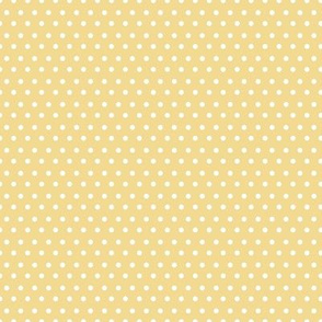 "8"" White Polka Dots Yellow Back"