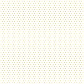 "4"" Yellow Polka Dots White Back"