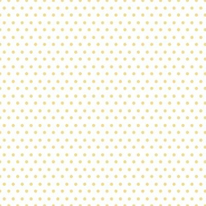 "8"" Yellow Polka Dots White Back"