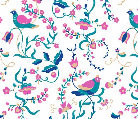 Nightless Garden - white fabric by earlfoolish on Spoonflower - custom fabric