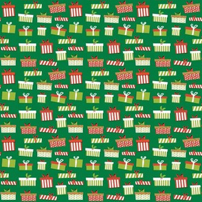 MINI - Christmas presents design - christmas presents fabric, christmas fabric, christmas fabric by the yard - mini size