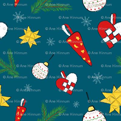 Traditional Danish Christmas decorations