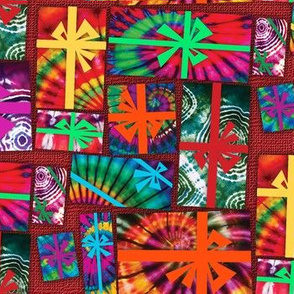 Tie Dye Holiday Packages on Red