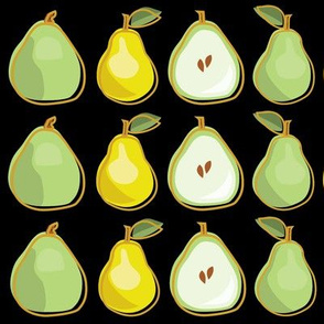 Pear Black Background