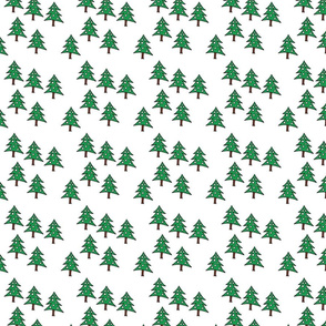 Project 842 | Christmas Trees on White