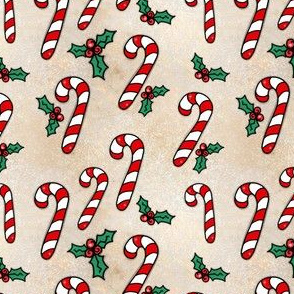 Project 842 | Christmas Candy Canes on Gold (red and white)