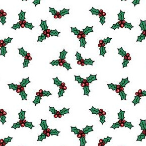 Project 842 | Christmas Holly on White