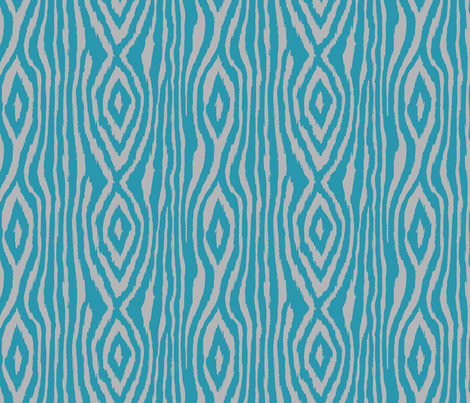 Zeekat__9in_Turquoise-Gray-3M. fabric by incognitoshop on Spoonflower - custom fabric