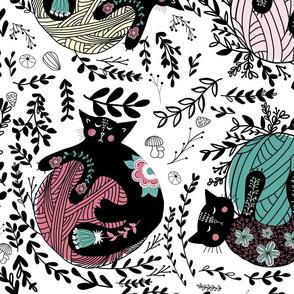 Folk Cats Knitting