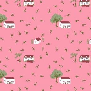 Levittown Feedsack 1940s | Pink Morning
