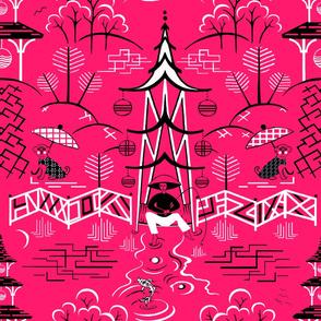 Stockwell Stylized flamingo Big