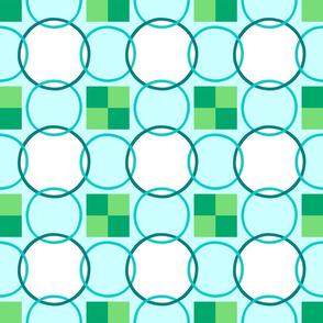 Celtic Rings - Aqua Green