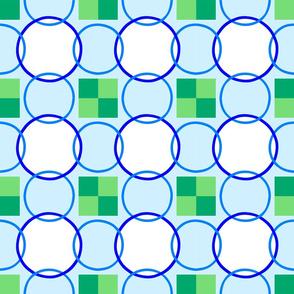 Celtic Rings - Blue Green