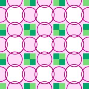 Celtic Rings - Dark Pink Green