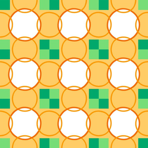 Celtic Rings - Orange Green