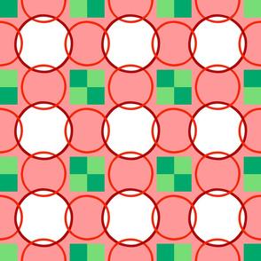 Celtic Rings block - Red Green